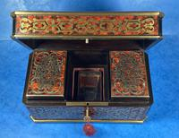 Victorian French Tortoiseshell Twin Canister Tea Caddy (11 of 17)