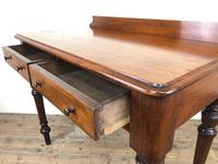 Antique Victorian Mahogany Two Drawer Side Table (9 of 15)