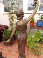 2 Bronze Art Nouveau Style Lamps (8 of 12)
