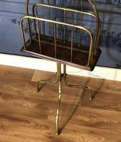 Victorian Brass & Oak Revolving Paper Rack by William Tonks (5 of 7)