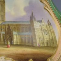 Samuel Alcock Porcelain Pot Pourri Vase & Cover View Salisbury Cathedral (7 of 12)