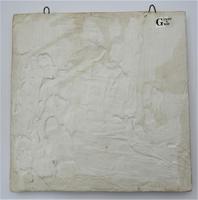 Panel of four Dutch Delft landscape tiles, c1750 (3 of 9)