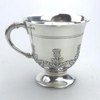 Fine & Rare Scottish Solid Silver Small Tankard by Hamilton & Inches c.1922 (6 of 9)