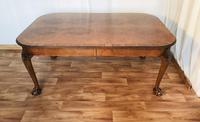 Burr Walnut Extending Dining Table (10 of 17)