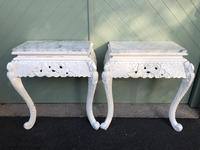 Pair of Antique Marble Topped Console Tables