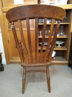 Pair of Elm Carver Chairs (4 of 8)