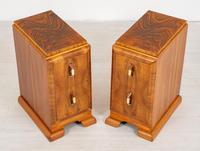 Superb Pair of Walnut Art Deco Bedside Cabinets (4 of 6)