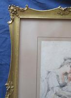 "Richard Cosway 1802 Aqua Tint Stipple Engraving ""Affection"" (6 of 7)"