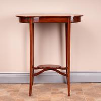 Edwardian Inlaid Mahogany Kidney Shape Occasional Table (3 of 15)