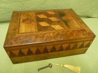 Large Tunbridge Ware Style Jewellery Box - Original Tray c.1870 (3 of 16)