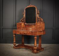 Victorian Figured Walnut Dressing Table (5 of 17)