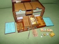 Unusual Oak Games Box - Bezique + Antique Cards + More (12 of 16)