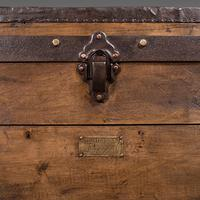 Large Antique Steamer Trunk, English, Pine, Travel, Shipping Chest, Victorian (11 of 12)