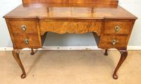 Antique Burr Walnut, Triple Mirror Shaped Dressing Table (2 of 12)