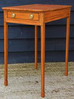 Superb Quality Georgian Satinwood & Inlaid Lamp / Wine / Side Table with Drawer (6 of 10)