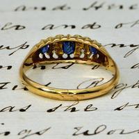 The Antique Edwardian 1908 Sapphire & Diamond Ring (3 of 3)