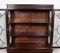 Edwardian Glazed Bookcase Cabinet on Stand Astragal Mahogany (3 of 11)