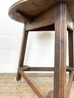 Traditional Style Oak Cricket Table (5 of 10)