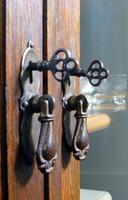 Oak 3 Door 1930s Vintage Bookcase with Keys (19 of 22)