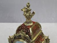 French Louis XV Style Boulle Mantel Clock Retailed by R&C (6 of 9)
