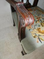 Carved Chippendale Revival Armchair (4 of 10)