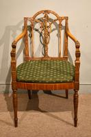 19th Century Carved Armchair in Satin Birch & Satinwood (3 of 7)