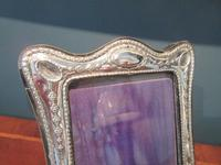 George V Period Silver Shaped Photo Frame (3 of 6)