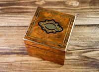 Single Amboyna French Tea Caddy c.1880 (3 of 11)