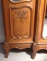 Large Oak French Triple Armoire (7 of 12)