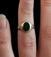 Vintage Onyx signet ring, 9ct gold (4 of 13)