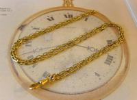 Edwardian Ladies Pocket Watch Guard Chain Antique 10 Gold Filled (4 of 10)