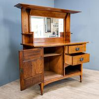 Arts & Crafts Mirror Backed Sideboard (2 of 14)