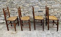 Set of 4 Antique Elm Country Chairs (10 of 13)