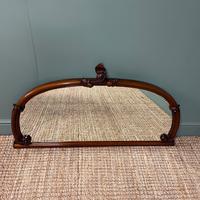 Victorian Mahogany Antique Overmantle Mirror (4 of 7)