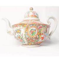 19th Century Cantonese Femille Rose Large Tea Pot (2 of 12)