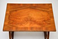 Antique Regency Style Figured Walnut Nest of Tables (8 of 12)