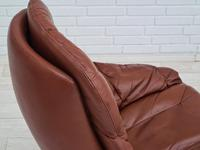H.W.Klein, Danish swivel armchair, 70s, leather, original upholstery, very good condition (19 of 19)