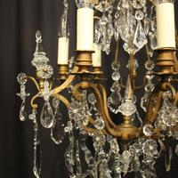 French Gilded 7 Light Antique Chandelier (3 of 10)