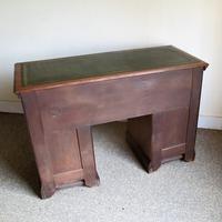 Walnut Kneehole Writing Desk - Edwardian c.1910 (3 of 8)