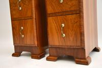 Pair of Art Deco Figured Walnut Bedside Chests (7 of 10)
