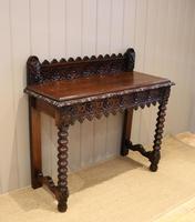 Carved Dark Oak Hall Table (6 of 9)
