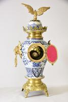 Delft-ware Vase or Urn Table Clock (5 of 5)