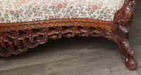 Burmese intricately carved settee in extremely good condition. (3 of 9)