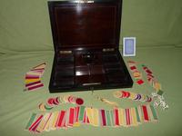 Fine Quality French Inlaid Games Box c.1860 (2 of 10)