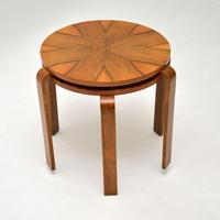 Pair of Vintage Walnut Bentwood Stacking Stools / Side Tables (8 of 8)