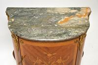 Antique French Inlaid  Marquetry Marble Top Cabinet (4 of 10)