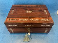 William IV Mother Pearl Inlaid Rosewood Box (2 of 12)