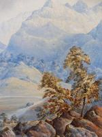 Watercolour The Glen Monogrammed A M 1863 (9 of 12)
