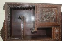 Antique Japanese Carved Wood Tabletop Cabinet c.1900 (10 of 15)