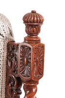 Fine Pair of Antique Carved Oak Armchairs c.1880 (8 of 13)